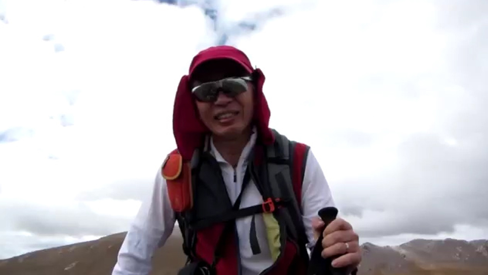 Man hikes Himalayan ridge wearing carbon fiber Noodle AFO
