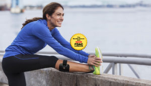 Runner uses carbon fiber AFO to support ankle from drop foot.
